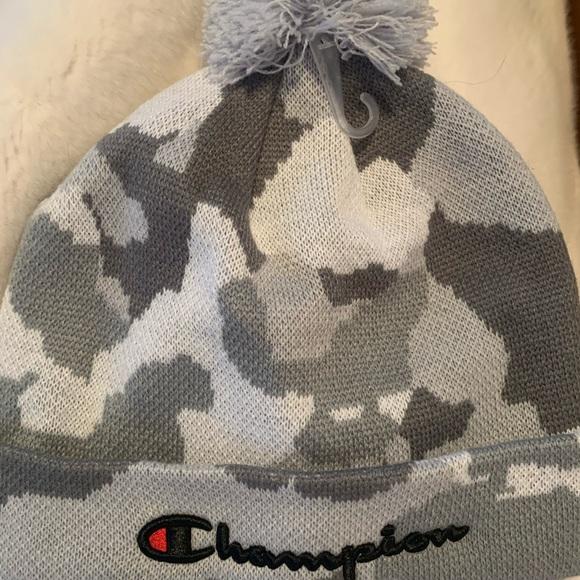 Champion camo beanie hat